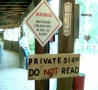 Weird Funny Pictures - Do Not Read-Private Sign