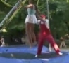 Funny Links - Booty Flash On Trampoline