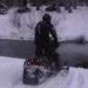 Cool Links - Snowmobile Crosses River