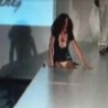 Funny Links - Model Falls in Hole on Runway