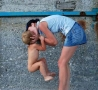 Funny Pictures - A Baby Kiss