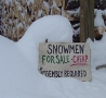 Funny Pictures - Snowmen For Sale