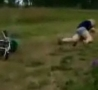 Funny Links - Chick Eats Dirt On Pocketbike Faceplant