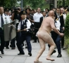 - Crazy Naked Bald Man with BricK