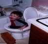 Funny Kids - Funny Pictures-Stuck on the Potty