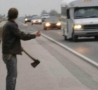 Funny Pictures - Hatchet Hitcher