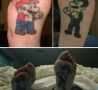 Funny Pictures - Mario and Luigi Tattoo