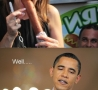 Funny Pictures - Michele Bachman Vs. Obama