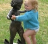 Funny Pictures - Playing With Statue