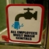 Funny Links - Employees Wash Genitals Sign