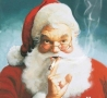Christmas Pictures - Santa Cigarettes