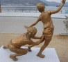 Funny Pictures - Statue of Boys Playing